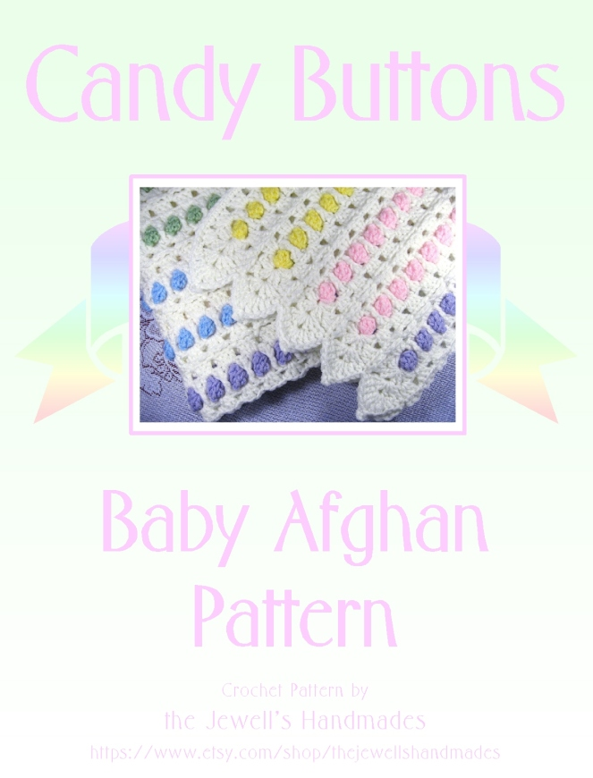 Candy Buttons Baby Afghan cover